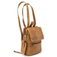 Distressed Leather Womens Backpack