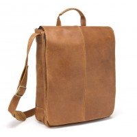 Distressed Leather 17 Inch Laptop Messenger