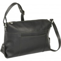 Top Zip Front Slip Shoulder Bag