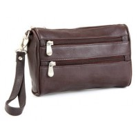 Two Zip Wristlet Clutch